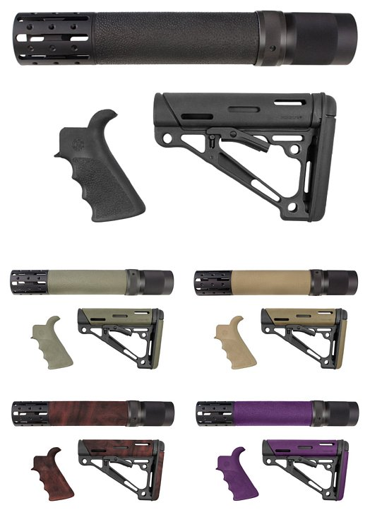 Hogue Ar 15 M 16 Kits Grip Forend And Buttstock
