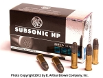 RWS SubSonic Hollow Point 22 LR Ammo (50 Rnds)
