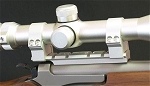 Package Deal Contender/G2 2-Ring Keylock Scope Mount Silver