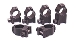 Warne Tactical Rings Black - All Heights to Fit 1