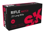 SK Rifle Match 22 LR Ammunition 50 Rnds