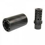 Spitfire AR-10 308 Muzzle Compensator Brake with QD Blast Shield