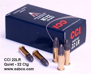 CCI 22 LR Quiet Ammunition