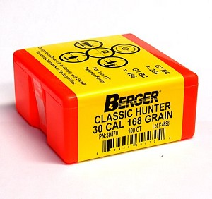 Berger Classic Hunter Bullets .270 Caliber, .277, 130 grain Boat Tail - Qty 100