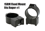 Warne Rings for Ruger - Fixed for 1