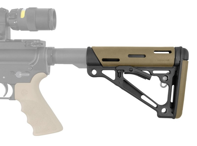 Hogue M4 Collapsible Ar 15 Stock Fits M4 Buffer Tube