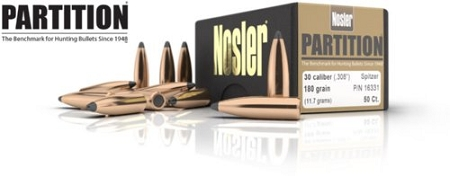 Nosler Partition Bullets (50) - Choose Your Caliber - Clearance Sale