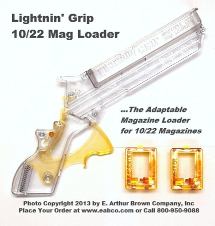 Lightnin' Grip 10/22 Magazine Loader with two Free Adaptors