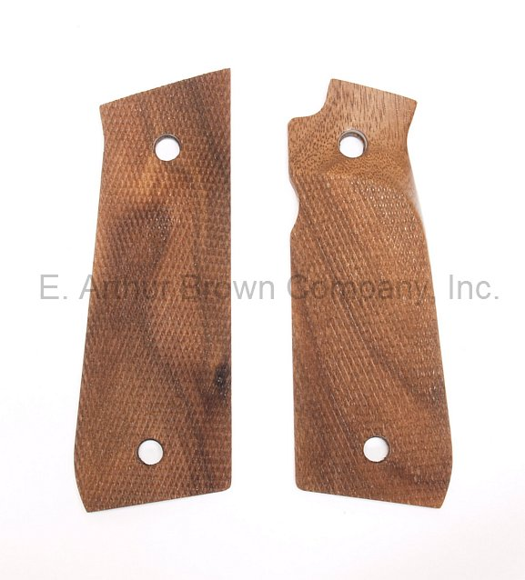 Ruger Mark IV 22/45 Grips, Walnut Thumb Rest Checkered, by Majestic Arms