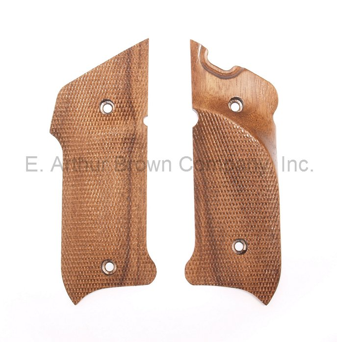 Ruger Mark IV Grips, Walnut Thumb Rest Checkered by Majestic Arms