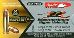 Aguila SuperMaximum Hollow Point 22 Ammunition