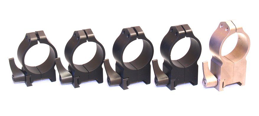 Warne QD 30mm Pair of Rings Black - All Quick Detach Heights