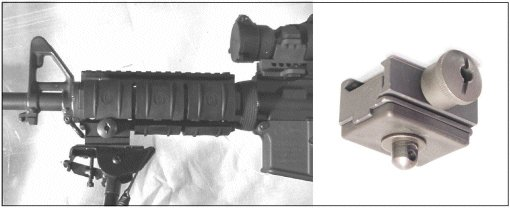 M4 Picatinny Weaver Adaptor for Harris Bipods