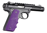 Hogue 79086 Rubber Grip w/Finger Grooves Fits Ruger MKIV 22/45 A Purple