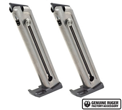 Ruger 90646 Mark IV Magazines fit 22/45, Nickel, 2-Pack