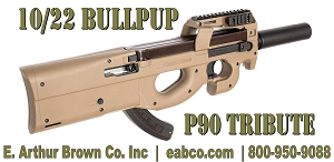 Ruger 10/22 Bullpup Stock - Military Grade Polymer - FN P90 Style