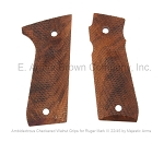Ruger Mark III 22/45 Grips, Walnut, Checkered, Ambidextrous by Majestic Arms