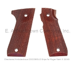 Ruger Mark III 22/45 Grips, COCOBOLO, Checkered, Ambidextrous by Majestic Arms
