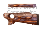 Custom TC Contender G1 Stock Set RH Coffee Thumbhole Laminate