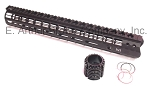 AR10 Free Float Handguard, 15 Inch Gen 2 , M-LOK w/ Barrel Nut