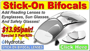 Stick-On Bifocals - Reading Lenses for Glasses Wearers