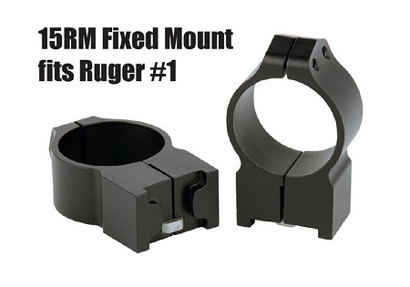 Warne Rings for Ruger Blackhawk #1 Mini 14 - Fixed for 30mm
