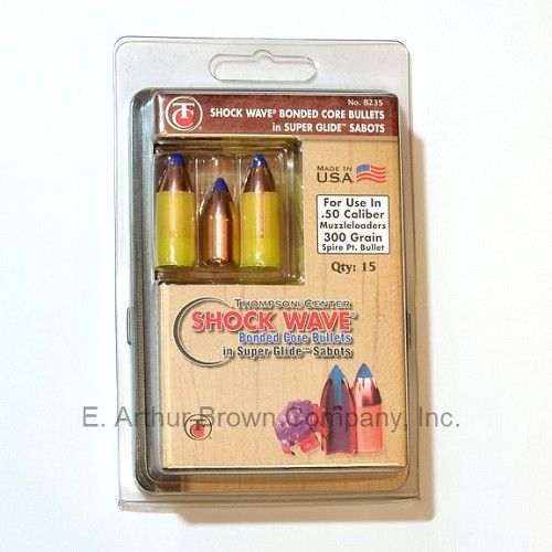 TC 8235 ShockWave Bonded Core Bullets 50 Cal. 300 Gr. in Super Glide Sabots (Qty 15)