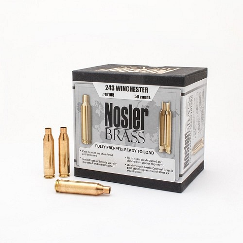 Nosler Pre-Prepped Un-Primed Reloading Brass (50 ct) - Choose Your Cartridge - Closeout Sale!