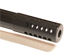 Brockman Open/Close Blue Muzzle Brake - Installed