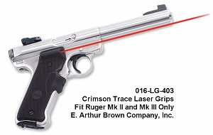 Laser Grips Sights for Ruger Mk II and Mk III by Crimson Trace