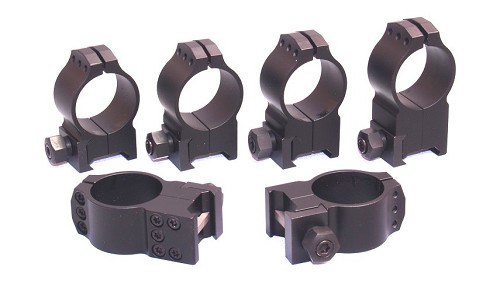 Warne Tactical 30mm Rings Black