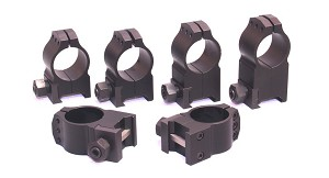 "Warne Tactical Rings Black - All Heights to Fit 1"" Tube"