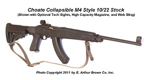 Ruger 10/22 Collapsible M4 Tactical Stock by Choate