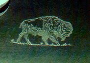 Etch Engrave Receiver Side with Buffalo