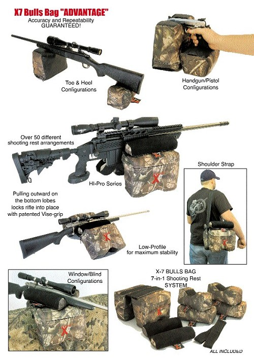 X-7 Advantage Bulls Bag Shooting Rest System